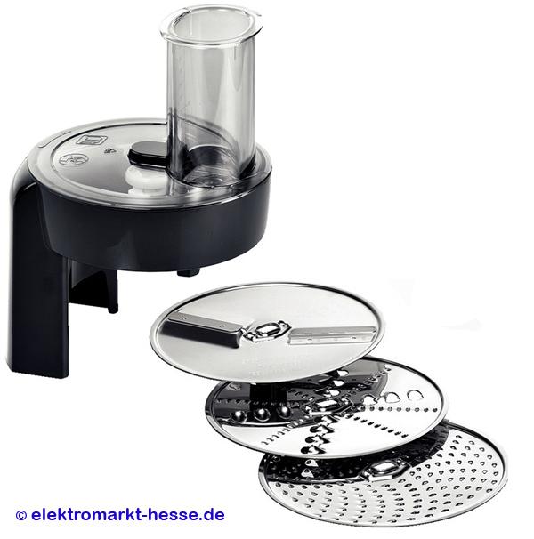 Details zu Bosch Durchlaufschnitzler black mit Scheiben für Küchenmaschinen  Serie MUM5...
